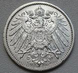 1 марка 1914 г. (G), Германия, серебро, фото №8