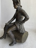 Бронзовая скульптура военного. Европа, фото №5