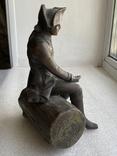 Бронзовая скульптура военного. Европа, фото №11