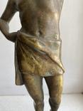 Скульптура Рыбак бронзовая старая Европа подписная, фото №5