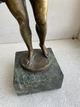 Скульптура Рыбак бронзовая старая Европа подписная, фото №6