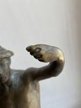 Скульптура Рыбак бронзовая старая Европа подписная, фото №7