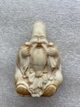 Резное изделие мудрец слоновая кость, фото №2