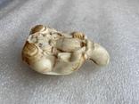 Резное изделие мудрец слоновая кость, фото №3
