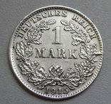 1 марка 1915 г. (D), Германия, серебро, фото №4