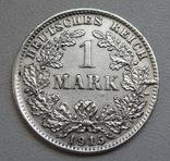 1 марка 1915 г. (D), Германия, серебро, фото №5