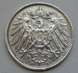 1 марка 1915 г. (D), Германия, серебро, фото №9