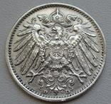 1 марка 1915 г. (D), Германия, серебро, фото №10