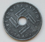 10 пфеннигов 1940 г. Третий рейх (для оккупированных территорий), фото №7