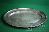 Большой поднос глубокое сребрение., фото №2