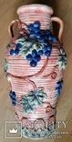 Глечик, ваза, майоліка, H42 см, Ф21 см, фото №2