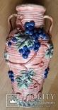 Глечик, ваза, майоліка, H42 см, Ф21 см, фото №4