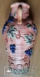 Глечик, ваза, майоліка, H42 см, Ф21 см, фото №5