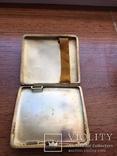 Серебряный портсигар. серебро 800 монограмма F Z. и ЛЕВ. вес-94,4 гр. позолота внутри., фото №5