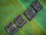 Кольца для салфеток 4 шт. декорированные бусинами Европа, фото №2