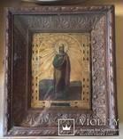 Икона Св. Анастасии, в родном резном киоте и раме., фото №3