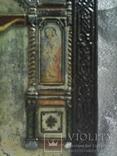 Икона Господа Иисуса Христа со святыми, XIX век, позолота, посеребрение, эмали, фото №8