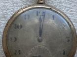 Винтажные швейцарские карманные часы в позолоте, фото №5