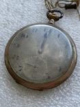 Винтажные швейцарские карманные часы в позолоте, фото №6