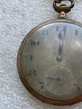 Винтажные швейцарские карманные часы в позолоте, фото №8