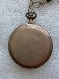Винтажные швейцарские карманные часы в позолоте, фото №9