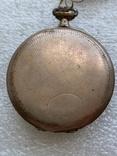 Винтажные швейцарские карманные часы в позолоте, фото №10
