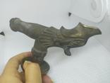 Бронзовый кран Рыбка. Вес 566гр, фото №12