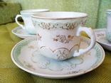 3 чайные пары чашки и блюдца Дулево 1960 год, фото №3