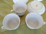 3 чайные пары чашки и блюдца Дулево 1960 год, фото №6