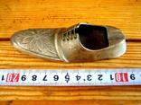 Велика старовинна бронзова попільничка, фото №9