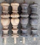 Ноги стола старовинні,  Н46,5 см, Ф13 см, фото №3