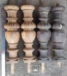Ноги стола старовинні,  Н46,5 см, Ф13 см, фото №4