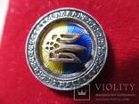 Серебряный значок с флагом и гербом Украины, фото №4