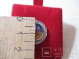 Серебряный значок с флагом и гербом Украины, фото №6