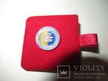 Серебряный значок с флагом и гербом Украины, фото №7