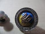 Серебряный значок с флагом и гербом Украины, фото №10