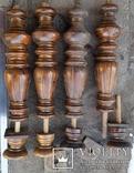 Ноги стола старовинні, Н47+10 см, Ф12,5 см, фото №5