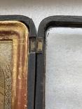 Икона Вседержитель в бронзовом окладе, серебрение, золочение, фото №12