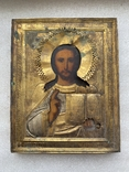 Икона Вседержитель в бронзовом окладе, серебрение, золочение, фото №13