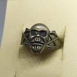 Кольцо с черепом. байкер, фото №6