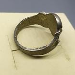 Кольцо с черепом. байкер, фото №8
