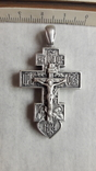Крест мощевик , серебро, фото №2