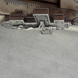 Крест мощевик , серебро, фото №3