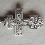 Крест мощевик , серебро, фото №11