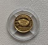 Либерия 10 $ 2004 год 1/25 унции золото 9999', фото №2