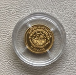 Либерия 10 $ 2004 год 1/25 унции золото 9999', фото №3