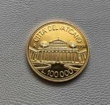 Ватикан 100000 лир 1997 год золото 917' 15 грамм, фото №2