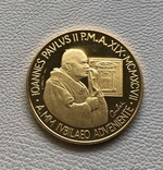 Ватикан 100000 лир 1997 год золото 917' 15 грамм, фото №3