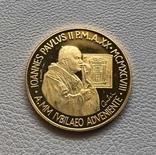 Ватикан 100000 лир 1998 год золото 917' 15 грамм, фото №3