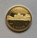 Ватикан 100000 лир 1999 год золото 917' 15 грамм, фото №3